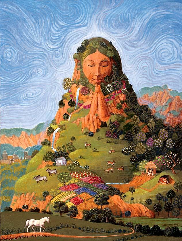 Resultado de imagen de madre tierra y un gran ser humano