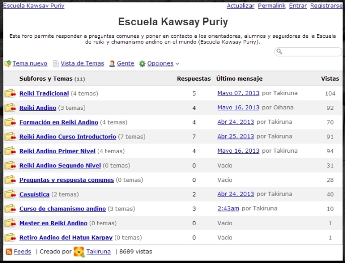 foro de kawsay puriy