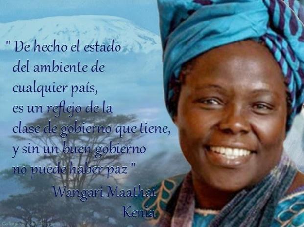 Wangari Maathai (1940-2011).