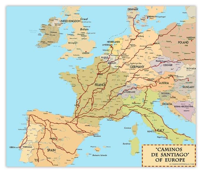 camino de santiago en europa